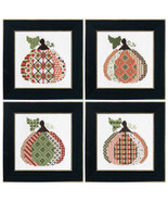 FULL BUNDLE Patterned Pumpkin Kit (4 total) cross stitch Colonial Needle  - $45.00