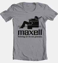 Maxell speakers T-shirt Logo retro 1980's Blown Away Man 100% cotton graphic tee image 2