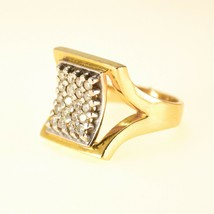 18k Gold Mens Rings with Diamonds UK size O BHS - $1,716.35