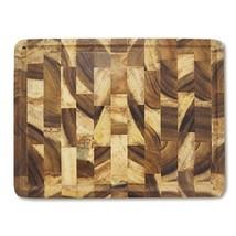 RoRo Rectangular End-Grain Acacia Kitchen Wood Cutting Board and Block w... - £15.51 GBP