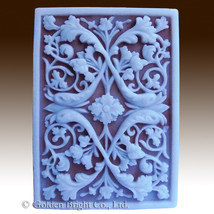 Blooms of the Orient - 2D silicone Soap/polymer/clay/cold porcelain mold - $27.72