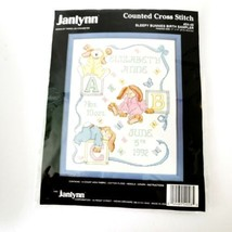 Janlynn Baby Birth Sampler Sleepy Bunnies Kit New Sealed - $19.99