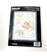 Janlynn Baby Birth Sampler Sleepy Bunnies Kit New Sealed - $19.99
