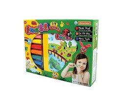 Donerland Play Oil Based Reusable Modeling Figuring Clay 5 Colors Play Toy Set (