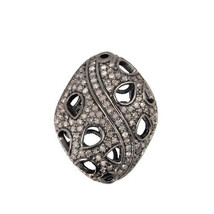 New Handmade 0.95Ct Pave Diamond Spacer 925 Sterling Silver bead Vintage... - $182.33