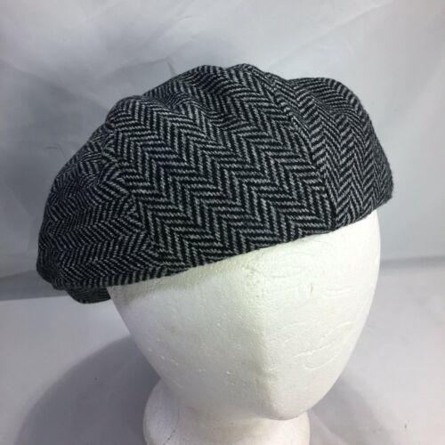 DORMAN PACIFIC DPC Gatsby Newsboy Cabbie Hat Cap Herringbone Wool Blend Medium image 4