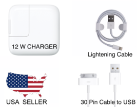 12W USB Power Adapter Wall Charger Cable for Apple iPhone & iPad 2 3 4 A... - $6.79+