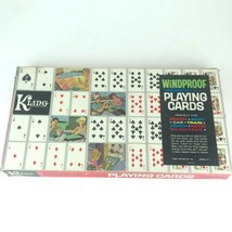 Vintage KLING Magnetic Steel Windproof Playing Cards and Board 1 deck of... - $14.84