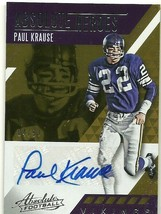 2017 Panini Absolute Ink Paul Krause Signed Auto Card Serial 04/99 Vikings - $7.69