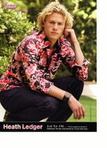 Heath Ledger Brian Littrell teen magazine pinup clipping wavy hair squatting