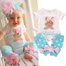 2pcs Newborn Infant Kids Baby Girl Romper Bodysuit + Leg Warmer Clothes ... - $12.69