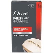 Dove Men+Care Body and Face Bar Deep Clean 4 Oz 6 Bars - $11.99