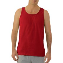 Fruit Of The Loom Men's Platinum Tank Top Size Small 34-36 Red Dual Defense - $9.89