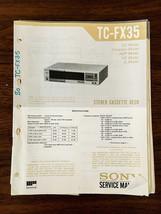 Sony TC-FX35 Cassette Service Manual *Original* - $13.97