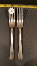 2 Vintage silverplate dinner forks - Baroness Silverplate - $10.00