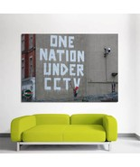 Wall Poster Art Giant Picture Print Banksy One Nation Under CCTV 0393PB - $22.99