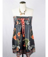 D-E-P-T  Floral Steel Belted Silky Strapless NEW Tank Top Blouse Size S - $13.09