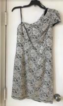 New ABS By Allen Schwartz White Lace 1 Shoulder Open Back Dress 6 8 10 12 $298 - $21.24