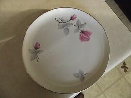 Syracuse Bridal Rose dinner plate 12 available - $3.91