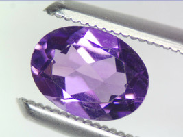 0.68 CT NATURAL AMETHYST LOOSE GEMSTONES PURPLE OVAL FACETED CUT 5.15 X ... - $18.63