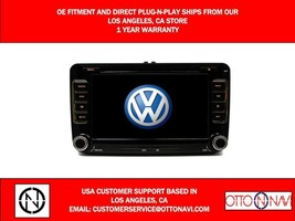 AM FM RADIO STERO CD DVD IPOD AUX USB BLUETOOTH IN DASH NAVIGATION OE FI... - $247.49