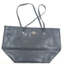 Coach Womens Authentic Solid Black Hand Bag Purse Satchel Bag Classic Basic - $67.72