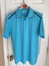 Nike Golf Tour Performance 2013 PGA Championship Light Blue Polo Men's L - $24.70