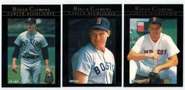 1992 Fleer ROGER CLEMENS Career Highlights - Boston Red Sox Era (12 Card... - $6.50
