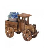 Wooden Antique Truck Lawn Ornament Planter Plant Holder Yard Patio Wood - $29.65