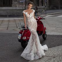 Fabulous Lace Mermaid Wedding Dresses 3D Lace Appliques See Through