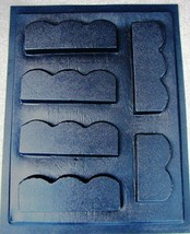 "6 SCALLOP CONCRETE GARDEN EDGING MOLDS MAKE 100s OF FEET OF 5.5"" LANDSCAPE EDGES image 1"