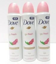 (Pack Of 3) Dove Deodorant Antiperspirant Spray 48 Hour - Pomegranate - $14.73