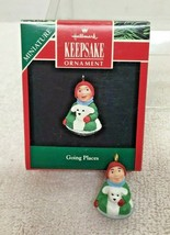1992 Going Places Miniature Hallmark Christmas Tree Ornament MIB w Price... - $8.42