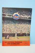 1971 New York Mets Major League Baseball Program vs Pittsburgh Pirates - $9.99