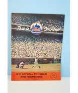 1971 New York Mets Major League Baseball Program vs Pittsburgh Pirates - $9.99