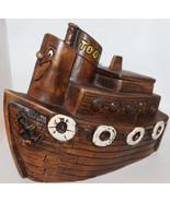 Toot the Tug Boat Cookie Jar Treasure Craft Melody Time Disney 9x11 Ceramic - $94.83