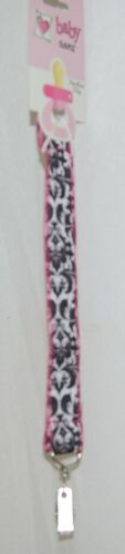 Ganz BG3387 Baby Black White Feather Design Ooh La La Pacifier Clip