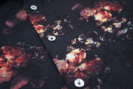 Men's Cotton Short Sleeve Casual Button Down Floral Pattern Dress Shirt image 4