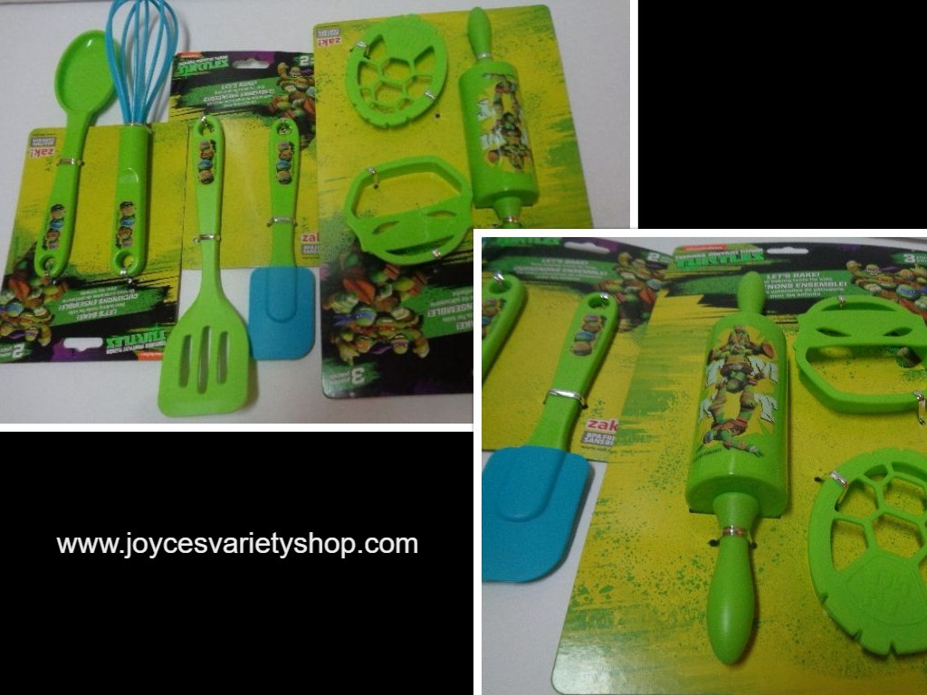 Primary image for ZAK Toy Baking Set Ninja Turtle NIB 7 Piece Decorating Cooking BPA Free
