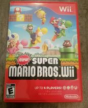 New Super Mario Bros. Wii (Nintendo Wii, 2009) Video Game Complete - $24.98