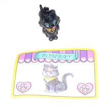 Littlest Pet Shop Black Royal Bombay Cat Kenner Vintage Tail and Tongue ... - $4.95