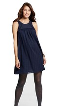 Liz Lange Maternity Navy Blue Cotton Dress S SMALL - $17.41