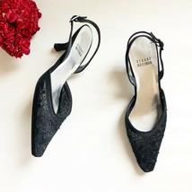 Stuart Weitzman Beaded Lace Slingback Heels Womens Shoes Size 5.5   126 - £37.90 GBP
