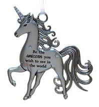 3 Inch Inspirational Zinc Unicorn Ornament - Be the Unicorn - $7.87