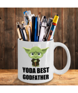 Funny Gift For Yoda Best Godfather Father Star Wars Memorabilia Collecto... - $14.95