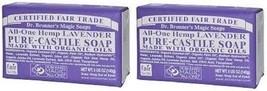 Dr. Bronner's Magic Soaps Hemp Lavender Pure Castile Soap 5 oz Bar 2 Pack - $14.80