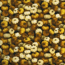 RJR Autumn Romance Yuko Hasegawa Pumpkin packed 100% cotton fabric by th... - $8.78