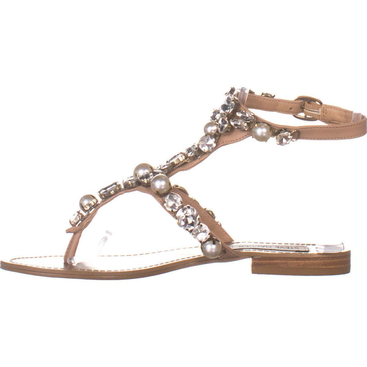 Steve Madden Chantel Flat Ankle Strap Sandals, Blush Multi 115, Blush Multi, 7 image 4
