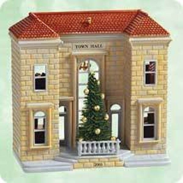 7 Hallmark Nostalgic Houses and Shops includes TOWN HALL MAYORS HOUSE NIB image 4