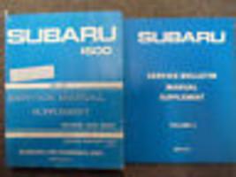 1981 Subaru 1600 Service Repair Shop Manual Supplement Set Factory Feo Books 81 - $29.65